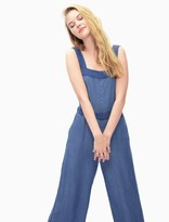 Splendid Blocked Indigo Culotte Jumpsuit