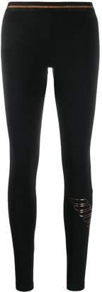 Emporio Armani foil logo print leggings
