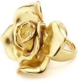 Oscar de la Renta Gold Rosette Ring