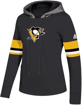 adidas Women's Black Pittsburgh Penguins Crewdie Pullover Hoodie