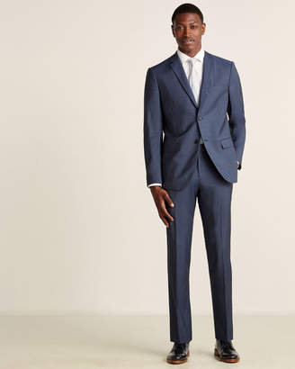 Theory Two-Piece Blue Alcide Wool Suit