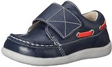 See Kai Run Milton Velcro Boat Shoe (Toddler), Navy, 4 M US Toddler