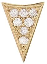 Sydney Evan Single Diamond Triangle Stud Earring - Yellow Gold