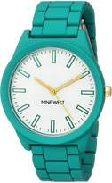 Nine West Women's NW/2008WTTL Matte Rubberized Bracelet Watch