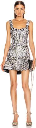 Jonathan Simkhai Leopard Jacquard Ruffle Dress in Lilac | FWRD
