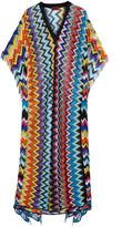 Missoni Mare Fringed Crochet-knit Kaftan - Magenta