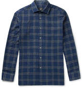 Dunhill Slim-Fit Checked Cotton-Blend Shirt