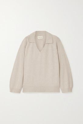LOULOU STUDIO Sperone Wool-blend Sweater - Light gray
