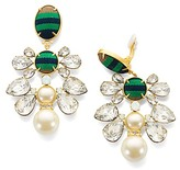Tory Burch Ribbon Pearl Statement Earring