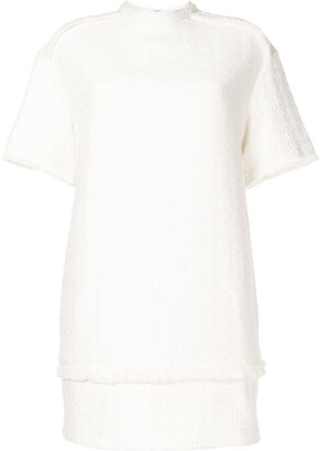 Proenza Schouler White Label Tweed Frayed Detail Mini Dress