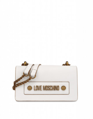 Love Moschino Shoulder Bag With Logo Woman White Size U It - (one Size Us)