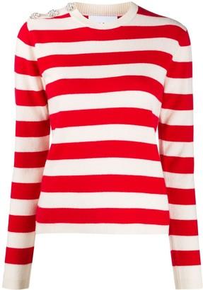 Ganni Striped Knit Jumper