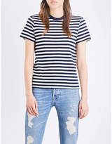 RE/DONE Striped Ringer cotton-jersey T-shirt