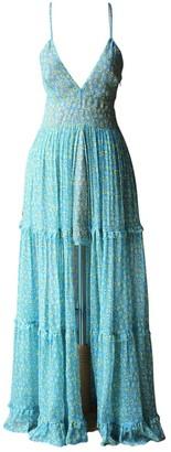 Amiri Blue Silk Dress for Women