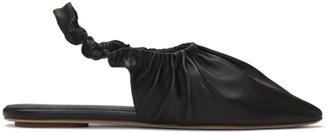 Nanushka Black Zuo Slippers