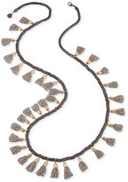 French Connection Tri-Tone Extra Long Multi-Tassel Necklace