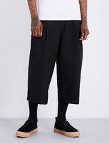McQ Relaxed-fit wide-leg cotton-blend trousers