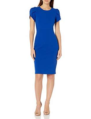 Donna Morgan Women's Tulip Sleeve Sheath