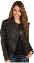 Kenneth Cole New York - Washed Leather Jacket (Dark Olive) - Apparel