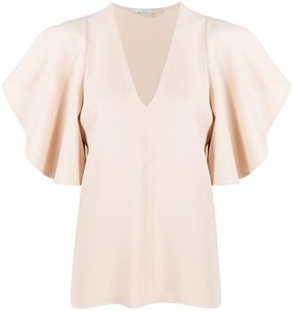 Stella McCartney flutter sleeves V-neck top