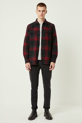 French Connection Dotted Flannel Check Shirt