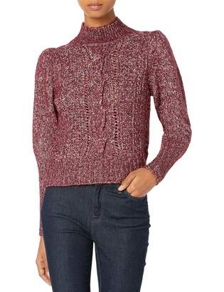 Rebecca Taylor Women's Tweed Cable Sweater