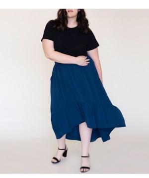 Ori Women's Plus Size Swept Away Crepe Maxi Skirt