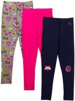 Betsey Johnson Emoji PrintSolid Leggings - Pack of 3 (Little Girls)