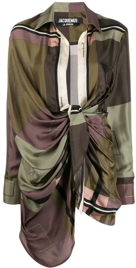 Jacquemus draped dress