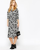 Minimum Printed Long Line Maxi Shirt Dress