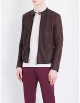 Etro Weave-effect Leather Jacket