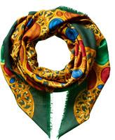 Chanel Green Silk Shawl