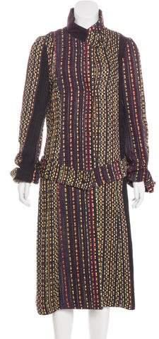 Christian Lacroix Long Woven Coat
