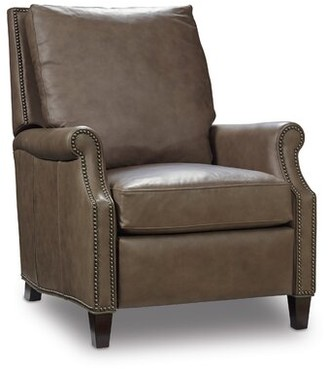 Hooker Furniture Calvin Genuine Leather Manual Recliner