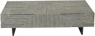 Ruby Star Zion Bone Inlay Coffee Table Bold Geometric Black And White