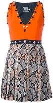 Fausto Puglisi embellished snakeskin effect dress - women - Silk/Acetate/Viscose - 42