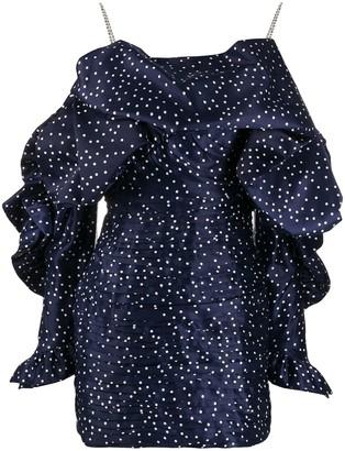 Magda Butrym Polka-Dot Ruffled Mini Dress