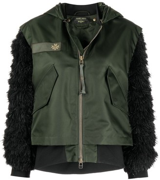 Mr & Mrs Italy x Audrey Tritto military-inspired feather-sleeve jacket