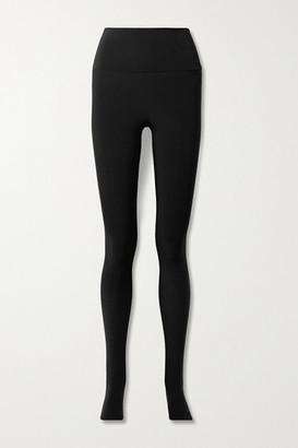 Norma Kamali Stretch-jersey Stirrup Leggings - Black