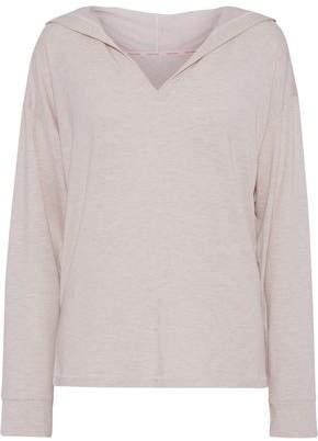 Calvin Klein Underwear Melange Modal-blend Jersey Hooded Pajama Top
