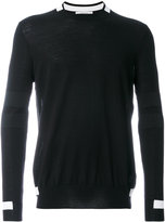 Givenchy block trim knitted jumper - men - Polyester/Wool - M