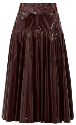 Palmer Harding Palmer//harding - Gathered Pvc Midi Skirt - Burgundy