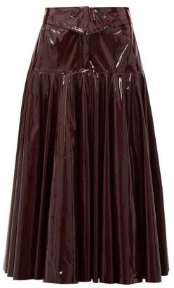 Palmer Harding Palmer//Harding Palmer//harding - Gathered Pvc Midi Skirt - Womens - Burgundy