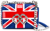 DSQUARED2 mini Union Jack DD crossbody bag - women - Patent Leather/Suede/Metal (Other) - One Size