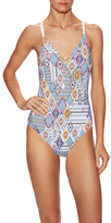 Red Carter Braided Back Plunge Mio One Piece Swimsuit