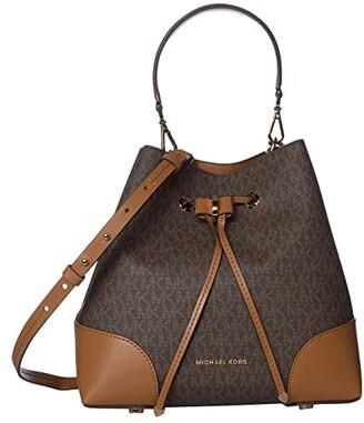 MICHAEL Michael Kors Mercer Gallery Medium Convertible Bucket Shoulder (Brown/Acorn) Shoulder Handbags