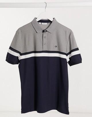 Calvin Klein Golf Pendant polo in navy & gray heather