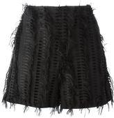 Chalayan 'Nothing' frayed shorts - women - Cotton/Polyester/Acetate/Cupro - 40