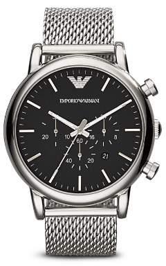 Emporio Armani Quartz Chronograph Stainless Steel Watch, 46 mm