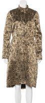 Alice + Olivia Embellished Brocade Coat